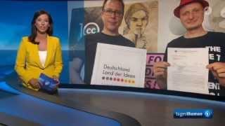 ARD Tagesthemen: Landesverrat vs. Pressefreiheit - Sturm der Entrüstung -  31.7.2015