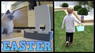 EASTER EGG HUNT & AUTOMATIC PET FEEDER! | CHRIS & EVE