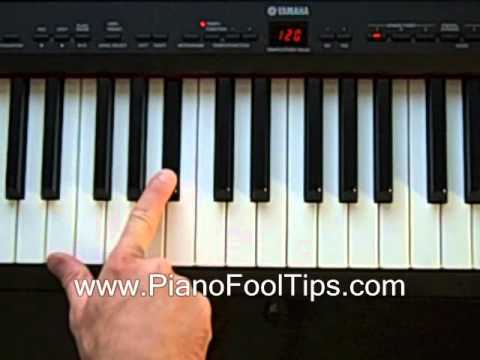 How To Play The Piano- Finding the Bb (B flat) Chord