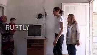 Iraq: UNHCR Special Envoy Angelina Jolie visits Syrian refugee camp