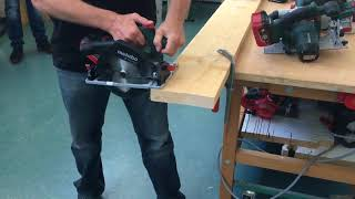 Hidralair Technical Tuesday Videos : Metabo Sierra Circular BATERÍA KS18 LTX 57 vs KSA18 LTX
