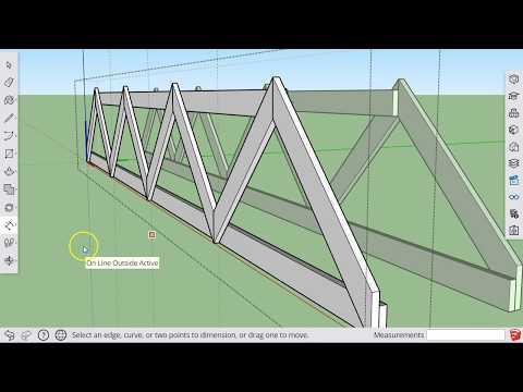 Sketchup For Schools: How to build a Model Bridge truss