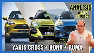 Toyota Yaris Cross vs Hyundai KONA Hybrid vs Ford Puma ** Análisis B-SUV ECO