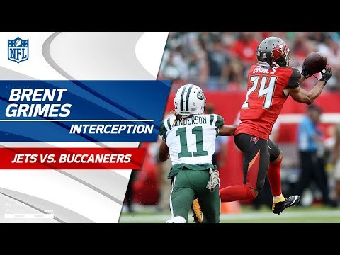 Brent Grimes' Sick Pick & Return Off Josh McCown! | Jets vs. Buccaneers | NFL Wk 10 Highlights