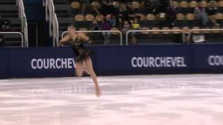22 Rika HONGO (JPN) - ISU JGP Courchevel Junior Ladies Free Skating.
