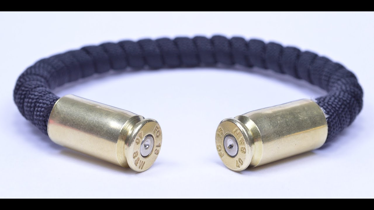 Make a bullet casing paracord bracelet for What can you make out of paracord