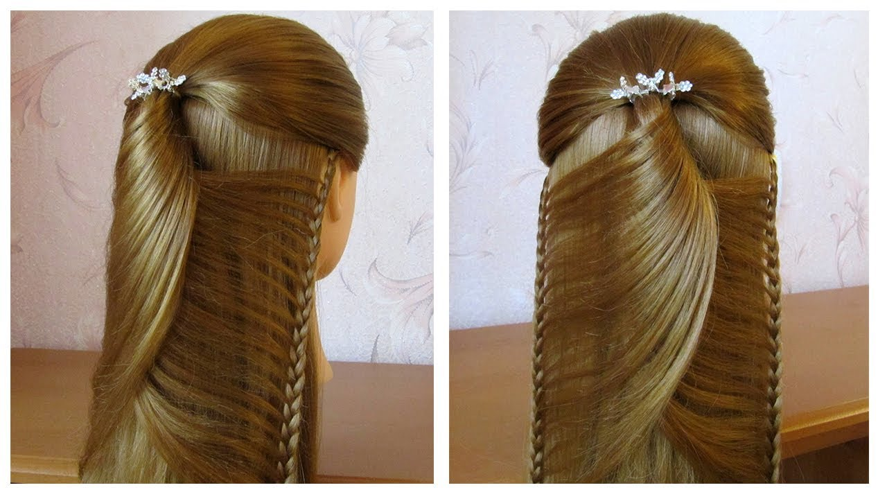 tuto coiffure simple belle coiffure facile faire cheveux long mi long coiffure pour fille. Black Bedroom Furniture Sets. Home Design Ideas