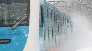 青い森鉄道 キハ48形8761D「リゾートうみねこ下北1号」 千曳駅通過 2019年1月26日