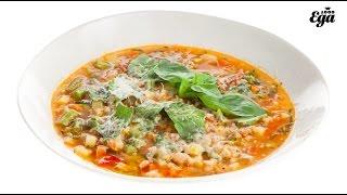Минестроне — овощной суп из Италии. Классический рецепт