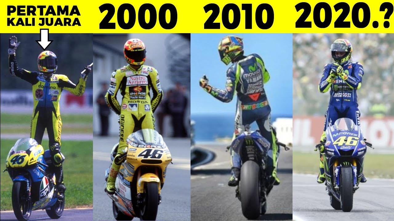 Juara MotoGp 9 Kali! Inilah Momen Kemenangan Paling Dramatis Valentino Rossi