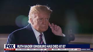 HE JUST LEARNED: President Trump Reacts to News of Ruth Bader Ginsburg's Death
