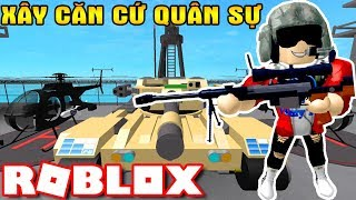 ROBLOX | Built A Military Camp Along Heavy Weapons Of The United States Of America | Military Tycoon | Vamy Tran