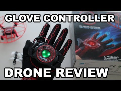 Aura Drone Review With Glove Motion Controls - Power Glove Style Controller