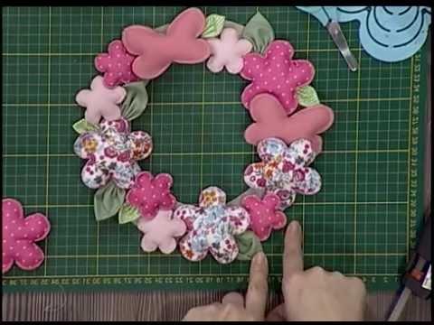 Guirnalda de flores de tela segunda parte youtube - Flores de telas hechas a mano ...