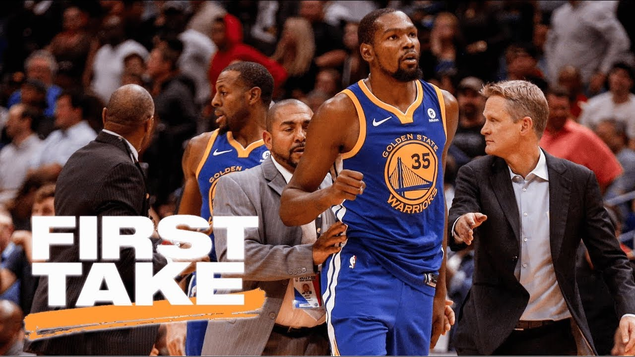78e9d501f247 First Take reacts to Kevin Durant s ejection after fight with DeMarcus  Cousins