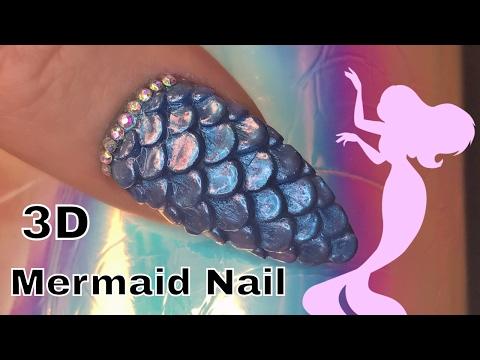 3D Acrylic Mermaid Nail