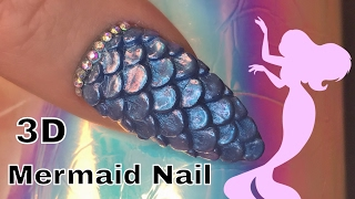 3D Acrylic Mermaid Scale Nail
