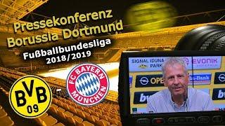 Borussia Dortmund - FC Bayern München: Pk mit Lucien Favre und Michael Zorc