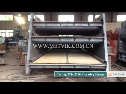 Testing 3YK 2160 Vibrating Screen of Shanghai Metvik® Company