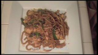 Chicken With Chinese Noodles And Asparagus - Chinese Food Recipe