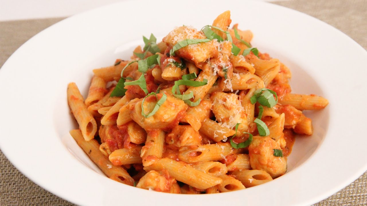 Penne Vodka with Chicken Recipe - Laura Vitale - Laura in the Kitchen ...