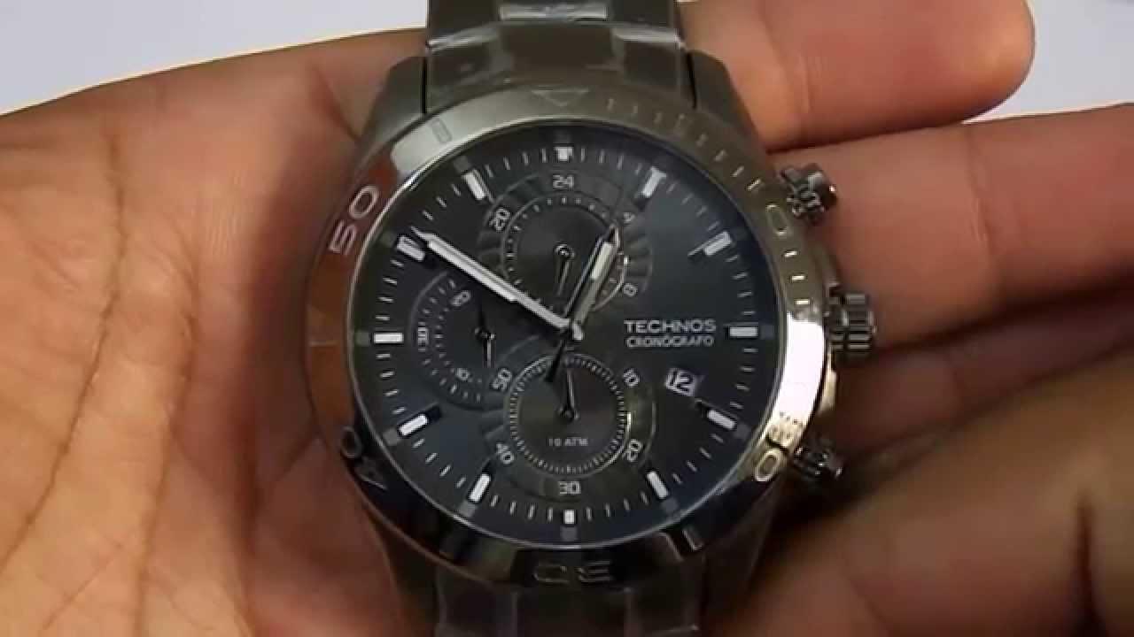 a51a0a0f5fdb1 Relógio Masculino Technos Js15an 1p - YouTube