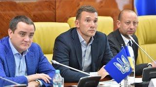 Шевченко зустрівся з тренерами та представниками клубів УПЛ