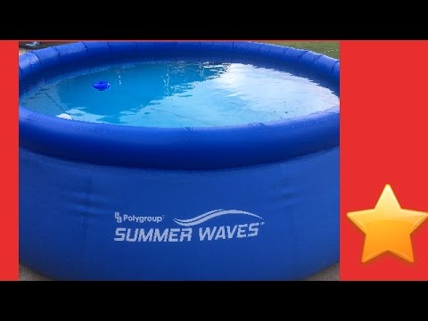New Polygroup Summer Waves 10ft Swimming pool/and Patch repair kit that  worked perfectly. WAL MART