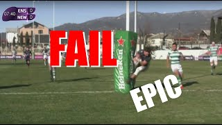 TALE OF THE FAIL - Pro rugby player runs into posts