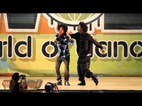 LES TWINS  YAK FILMS  WORLD OF DANCE 2010 Vallejo, CA  BAY AREA WOD
