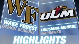 Wake Forest vs. Louisiana-Monroe | 2014 ACC Football Highlights