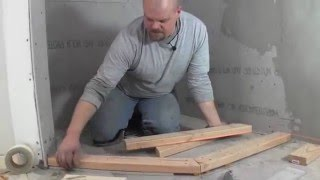 how to build a custom shower pan -  how to build the curb