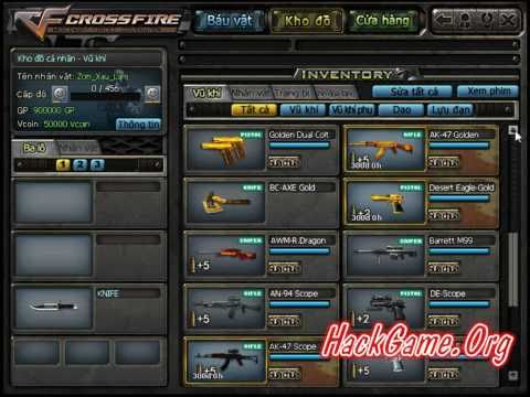 Huong Dan Quay Sung M4A1 RED Gragon, AMW Gold, RPK, FOX   Hack Vcoin GP CrossFire