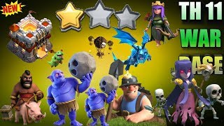 NEW BEST TH11 WAR BASE 2018 ANTI 2 STAR Anti Everything BoWitch,Miner,Anti Queen Walk,Hog