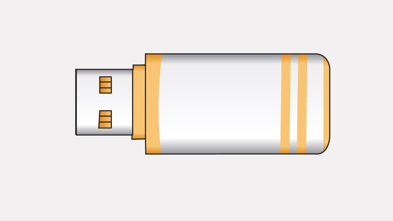 how to draw a pen drive - YouTubeYouTube