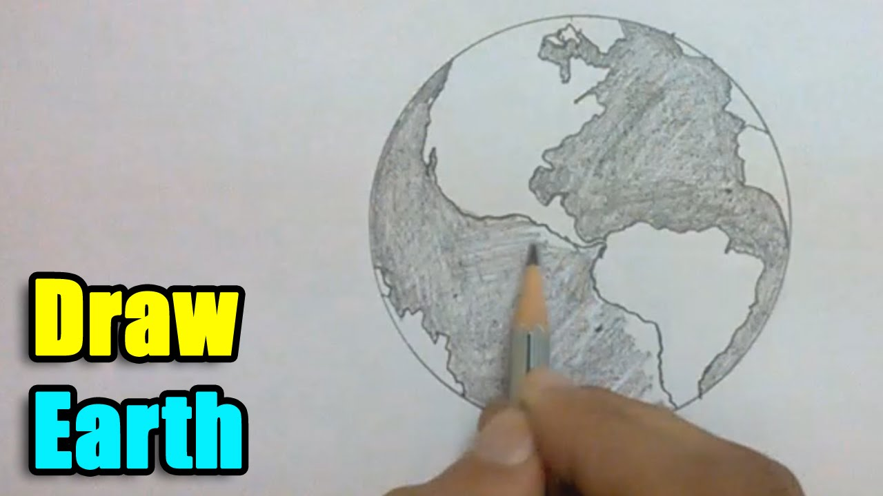 How to draw earth youtube for Easy to draw earth