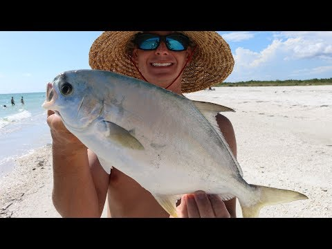 The BEST Tasting Fish Is Swimming Beneath Your Feet- Florida Pompano- Catch, Clean And Cook!!