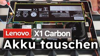 LENOVO ThinkPad X1 Carbon Laptop - AKKU austauschen