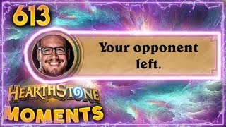 Opponent Left Bug, WTF?? | Hearthstone Daily Moments Ep. 613