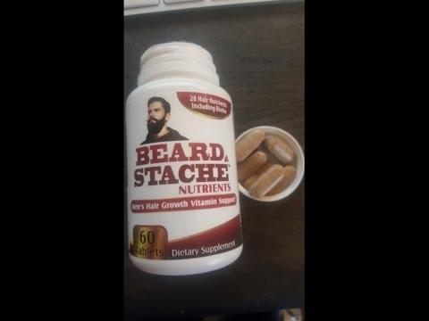 Beard & Stache Nutrients for Men - Facial Hair / Beard Growth Vitamins/Supplement