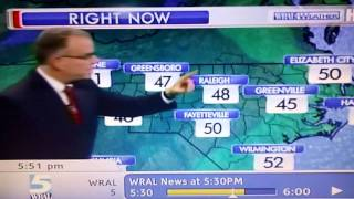 Funny WRAL Weatherman Blooper