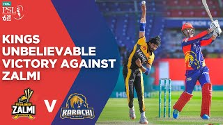 PSL 2021 | Karachi Kings Unbelievable Victory Against Peshawar Zalmi | Match 14 | MG2E