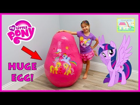 New My Little Pony Toys Giant Egg Surprise Opening & Big Castle, Bubbles & Colors Chalk Kids Video
