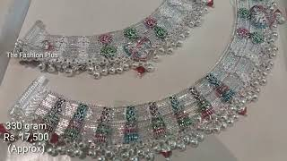 Latest BRIDAL Silver Anklet Designs With Weight and Price