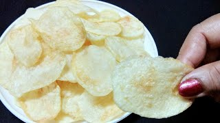 नवरात्री पर बनाये किस्पी और स्वादिष्ट आलू चिप्स |Crispy Potato Chips| Navratri Special-Potato chips.