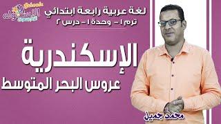 لغة عربية رابعة ابتدائي 2019 | الإسكندرية عروس البحر المتوسط | تيرم1 - وح1 - در2 | الاسكوله