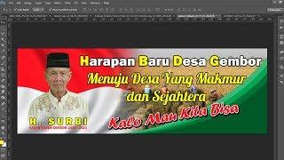 cara mudah desain banner pilkada dengan photoshop