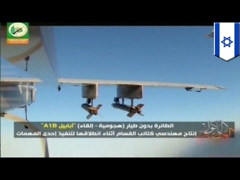 Hamas drone shot down by Israel's Iron Dome and Patriot missile defence shield near Ashdod