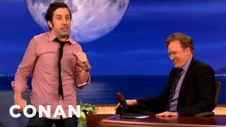 Simon Helberg Gets Possessed By Robin Williams - CONAN on TBS thumbnail