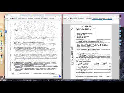 Filling out a Listing Agreement